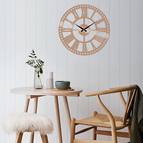 Metal Wall Clock 10 - Copper