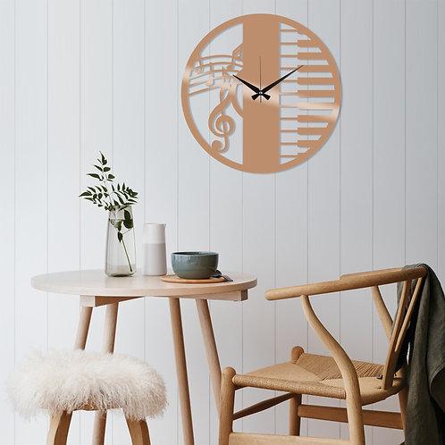 Metal Wall Clock 29 - Copper