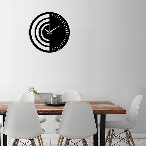 Metal Wall Clock 8 - Black