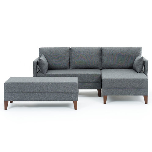 Comfort Corner Sofa Bed Right - Grey