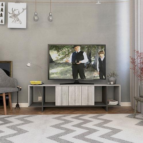 Zitano Tv Stand - Ancient White- Anthracite