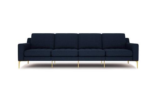 Normod 4 Seater - Dark Blue, Gold