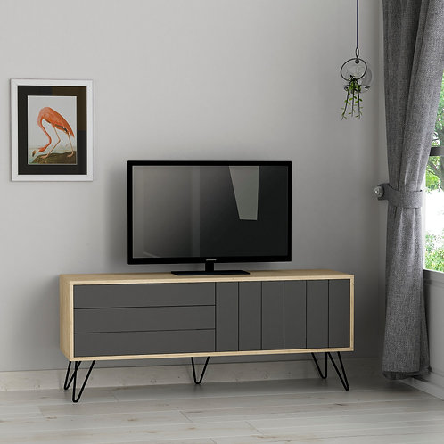 Picadilly Tv Stand - Oak- Anthracite