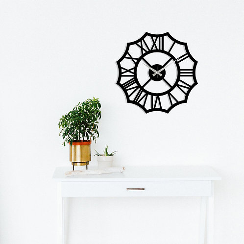 Metal Wall Clock 23 - Black