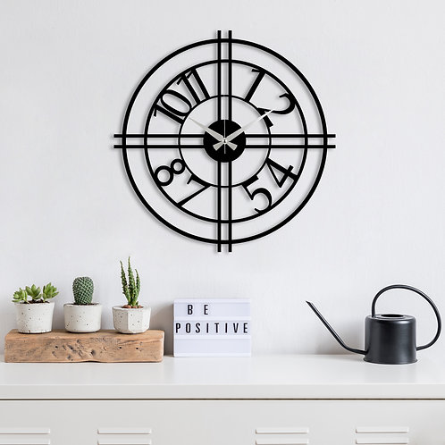 Metal Wall Clock 33 - Black