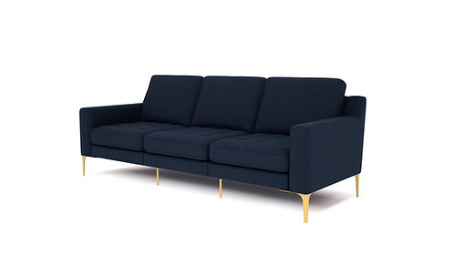 Normod 3 Seater - Dark Blue, Gold