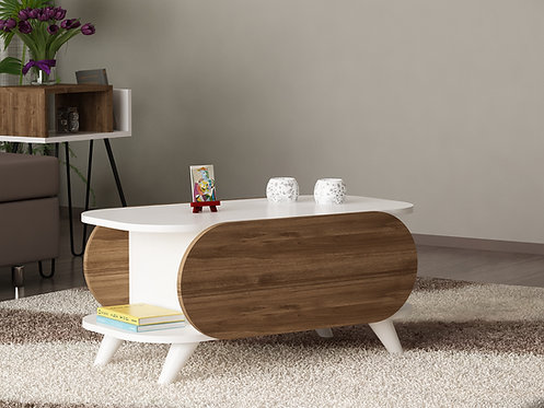 Orkide - White, Walnut