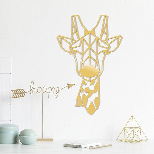 Giraffe Metal Decor - Gold