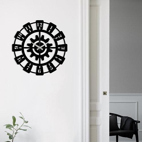Metal Wall Clock 26 - Black