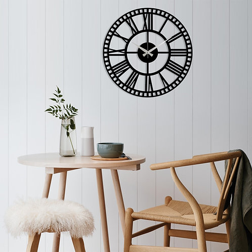 Metal Wall Clock 10 - Black