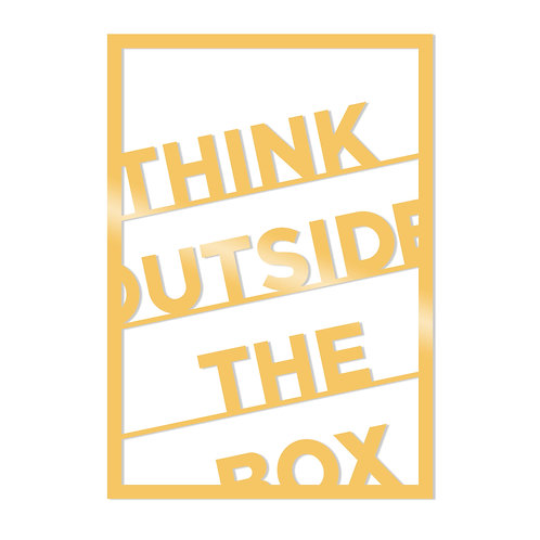 Think Outside The Box Metal Decor - Gold
