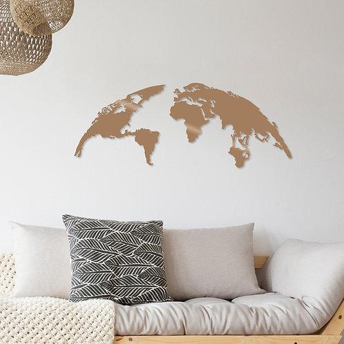 World Map Small - Copper