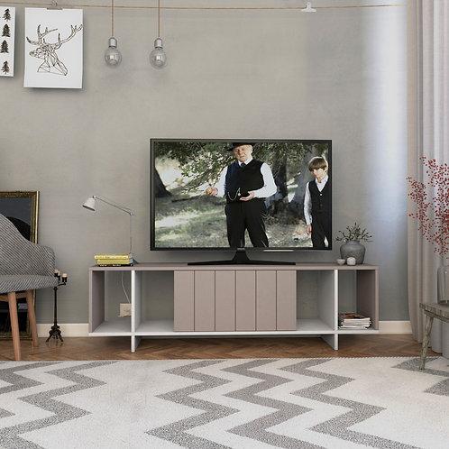 Zitano Tv Stand - Light Mocha- White