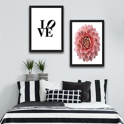 Love Pink Flower Set