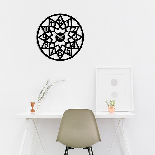 Metal Wall Clock 20 - Black