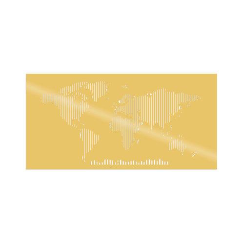 World Map Metal Decor 8 - Gold