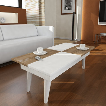Castrum - White, Walnut