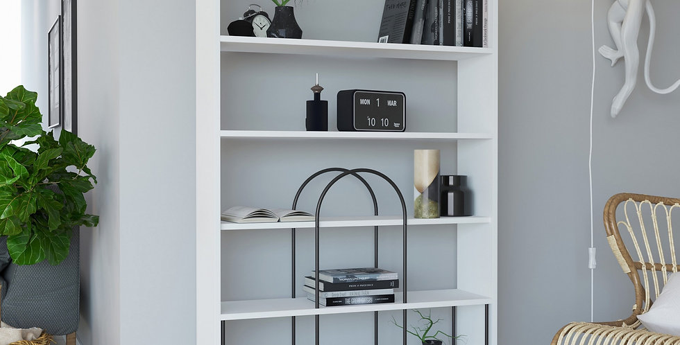 Norfolk Bookcase - White