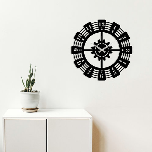 Metal Wall Clock 22 - Black