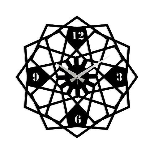 Metal Wall Clock 27 - Black
