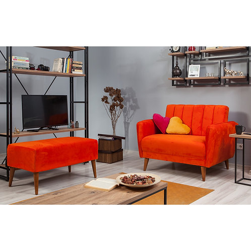 Aqua Loveseat - Orange