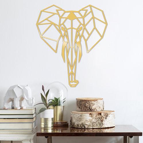 Elephant Metal Decor - Gold