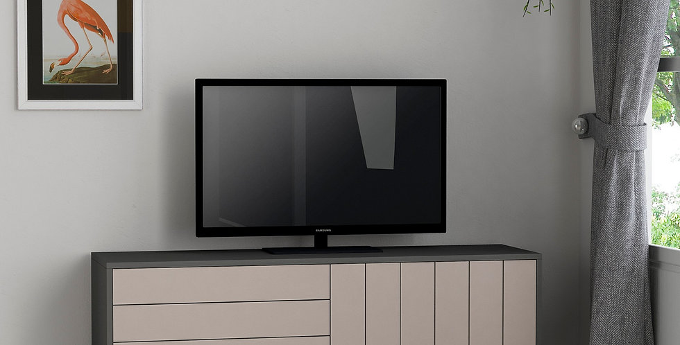 Picadilly Tv Stand - Anthracite, Light Mocha