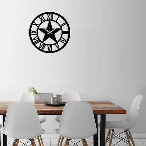Metal Wall Clock 28 - Black
