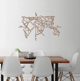 World Map Metal Decor 2 - Copper