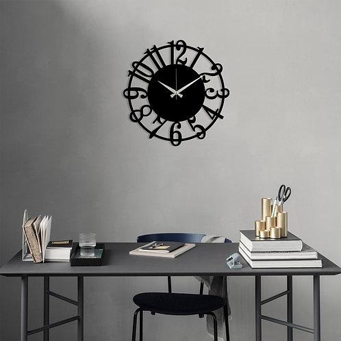 Metal Wall Clock 15 - Black