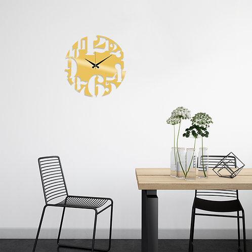 Metal Wall Clock 1 - Gold