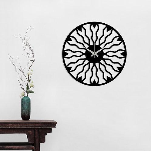Metal Wall Clock 21 - Black