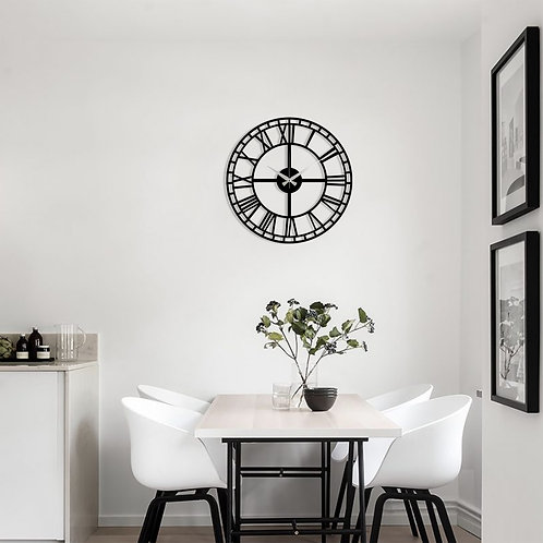 Metal Wall Clock 2 - Black