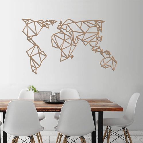 World Map Metal Decor 4 - Copper