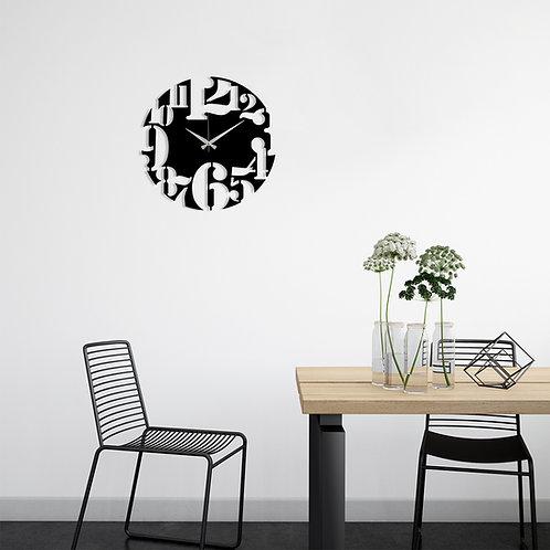 Metal Wall Clock 1 - Black