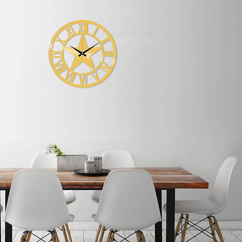 Metal Wall Clock 28 - Gold