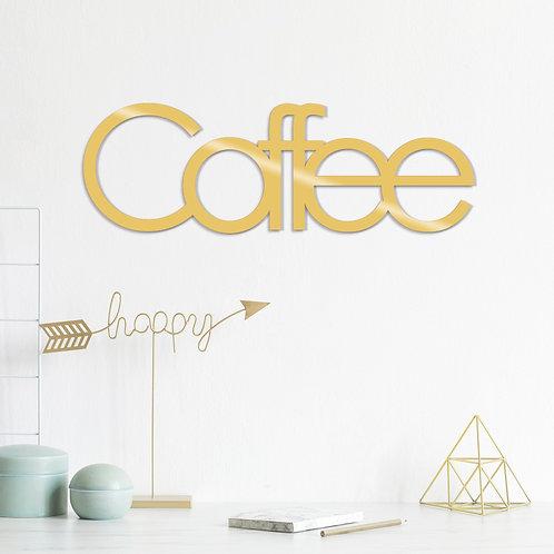 Coffee Metal Decor - Gold