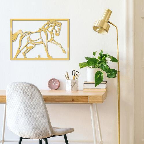 Horse Metal Decor - Gold