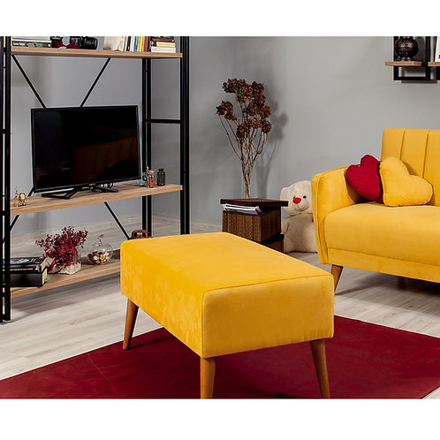 Aqua Loveseat Puf - Yellow