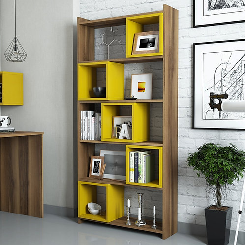 Box - Walnut, Yellow