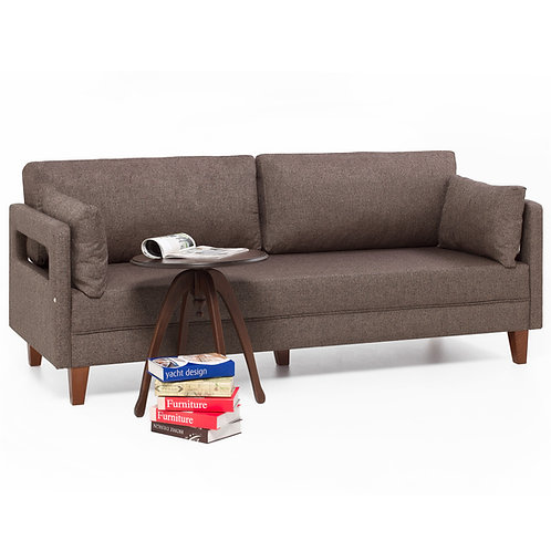 Comfort Sofa For 3 Pr - Brown