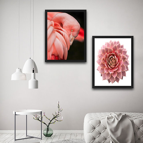 Pink Flamingo Flower Set
