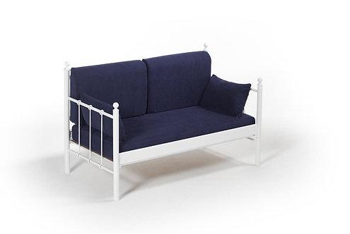 Lalas DK - White, Dark Blue (70 x 140)