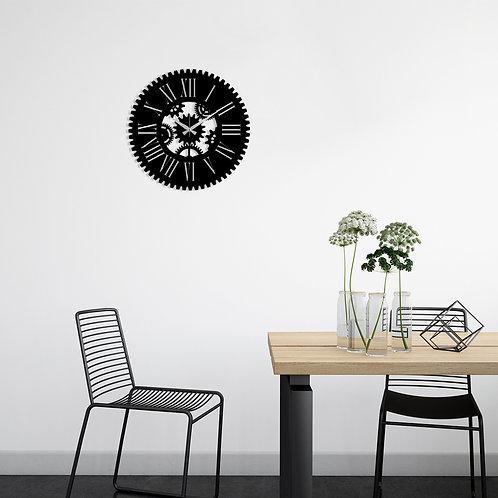 Metal Wall Clock 24 - Black