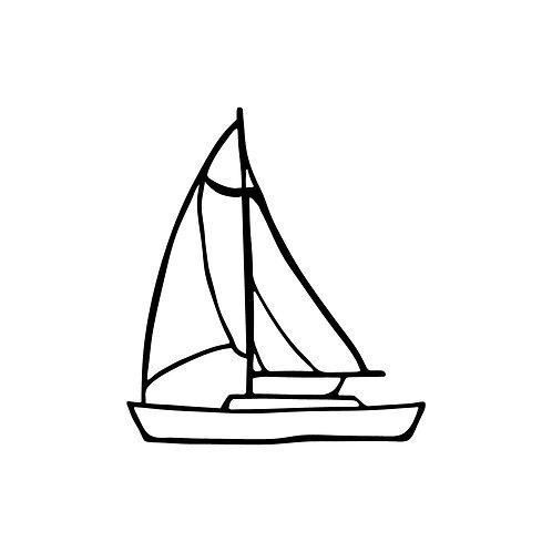 Sailboat - Black