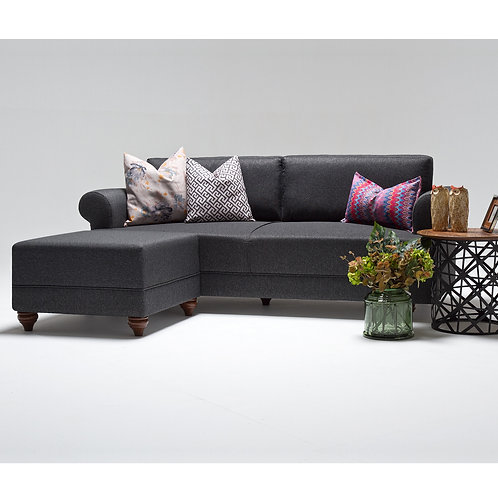 Samara Corner Sofa - Grey
