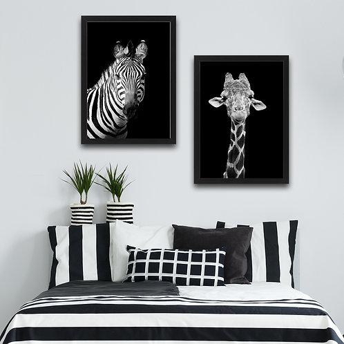 Zebra Giraffe Set