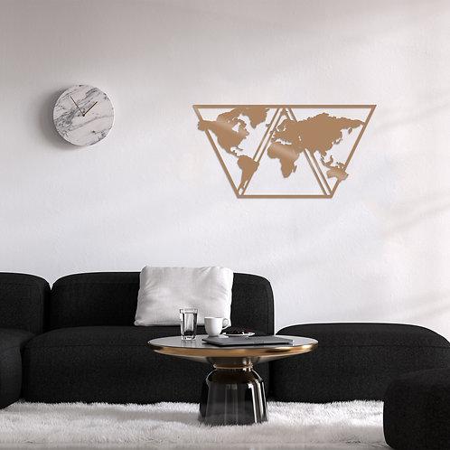 World Map Metal Decor 9 - Copper