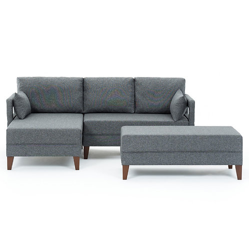 Comfort Corner Sofa Bed Left - Grey