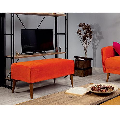 Aqua Loveseat Puf - Orange